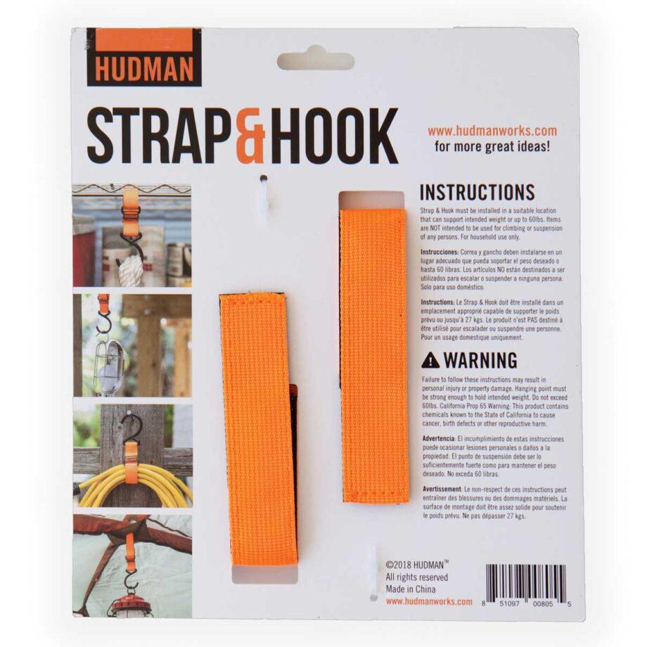 """Hudman Strap & Hook 10"""" bright orange package back"""