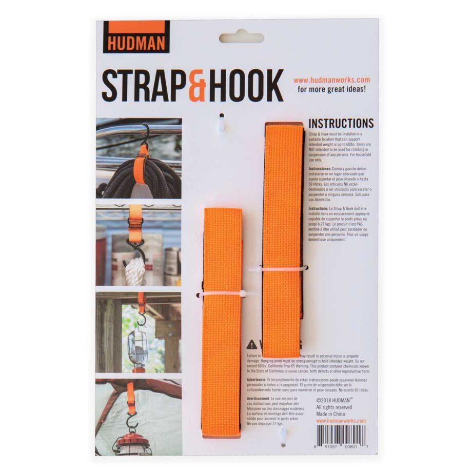 """Hudman Strap & Hook 30"""" bright orange package back"""