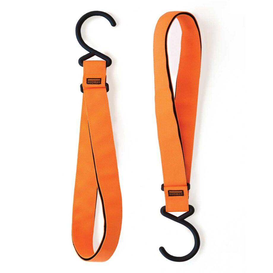 """Hudman Strap & Hook 50"""" bright orange color"""