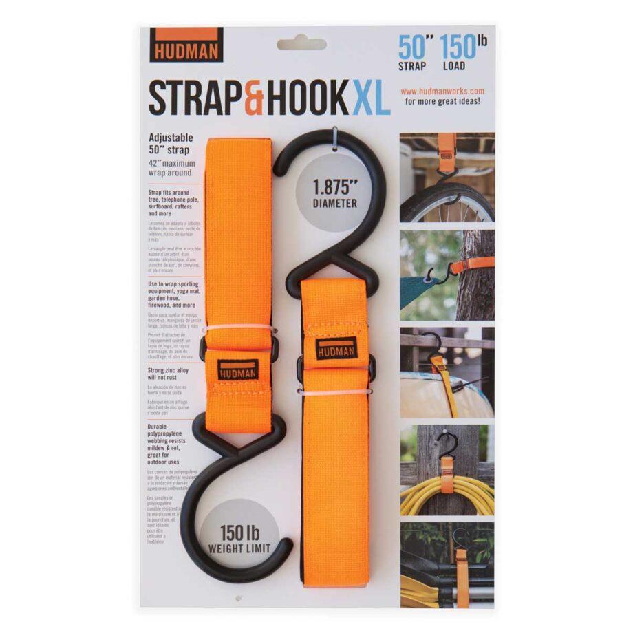 """Hudman Strap & Hook 50"""" bright orange package front"""