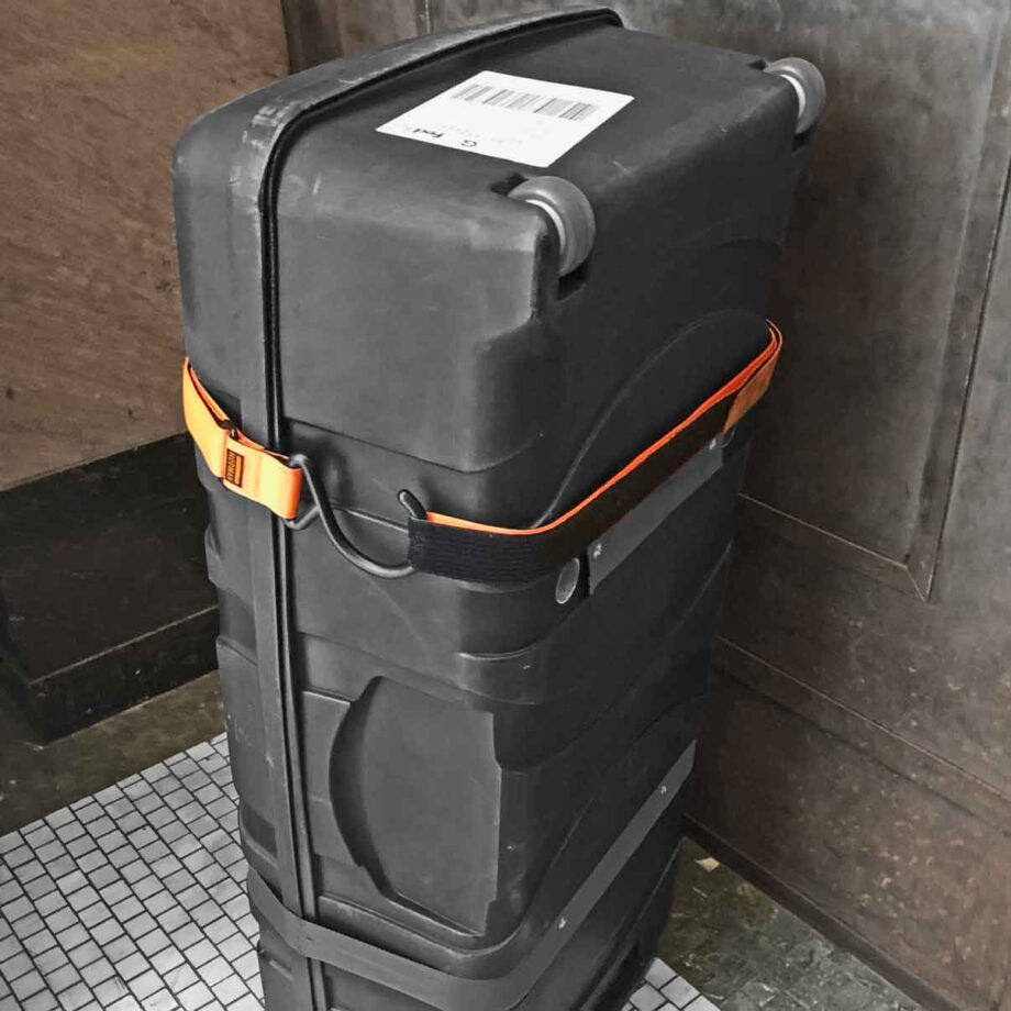 Use the Hudman Strap & Hook to secure luggage