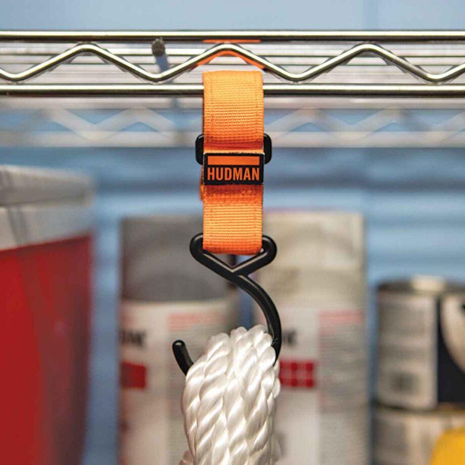 Use the Hudman Strap & Hook to hang rope