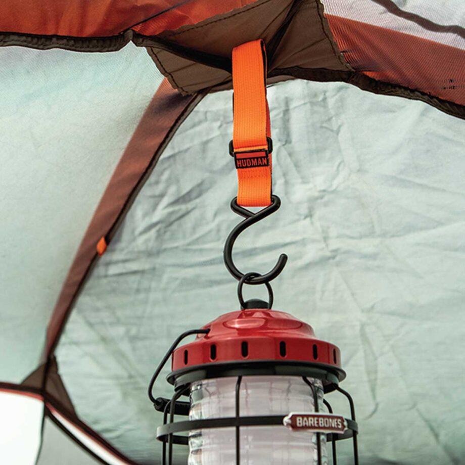 Use the Hudman Strap & Hook to hang a lantern
