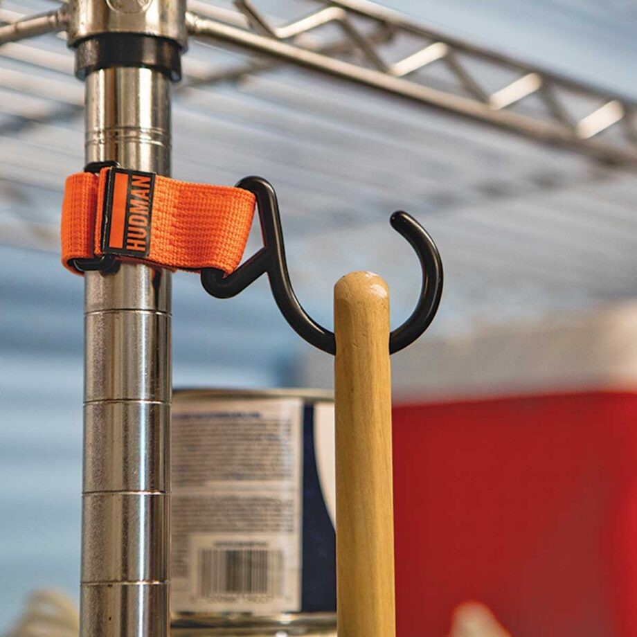 Use the Hudman Strap & Hook to hold hand tools